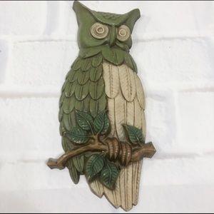 Vintage Sexton 1969 Cast Iron Owl Wall Art